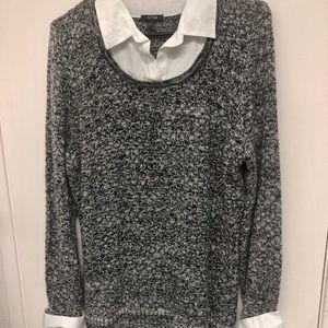 Black and white Apt. 9 collared shirt